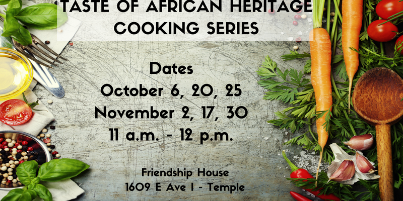 Taste of African Heritage Cooking Series
